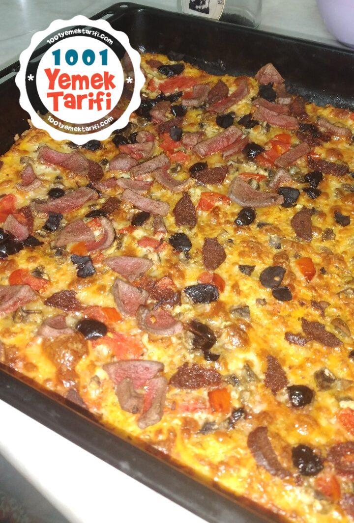 ev yapımı kolay karışık pizza