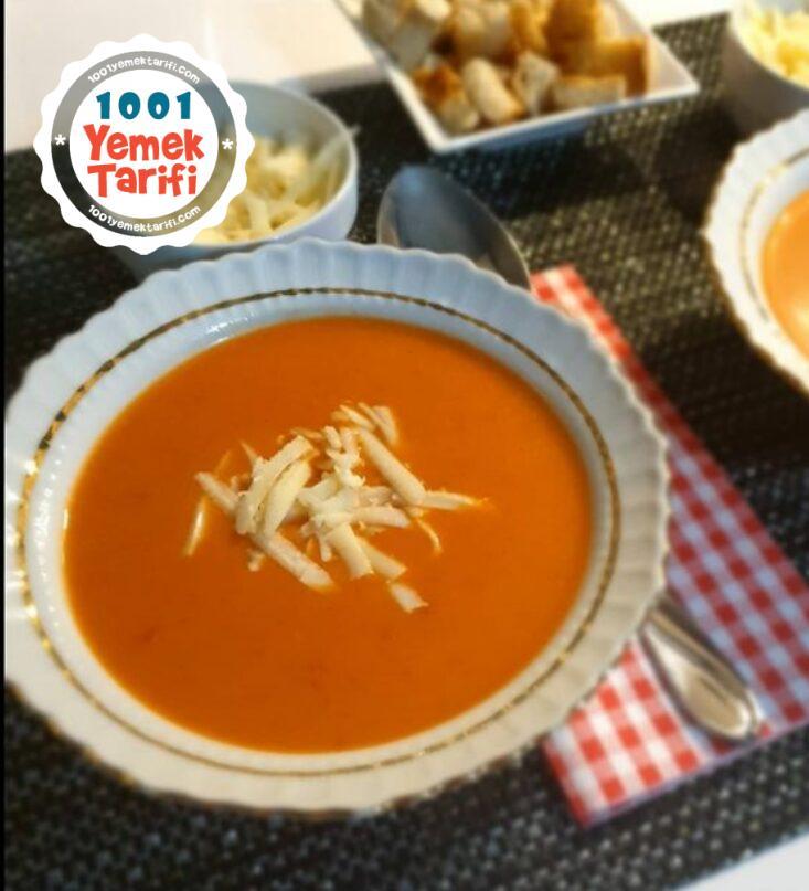 Sütlü Domates Çorbası tarifi nasıl yapılır-kaç kalori-resimli anlatım