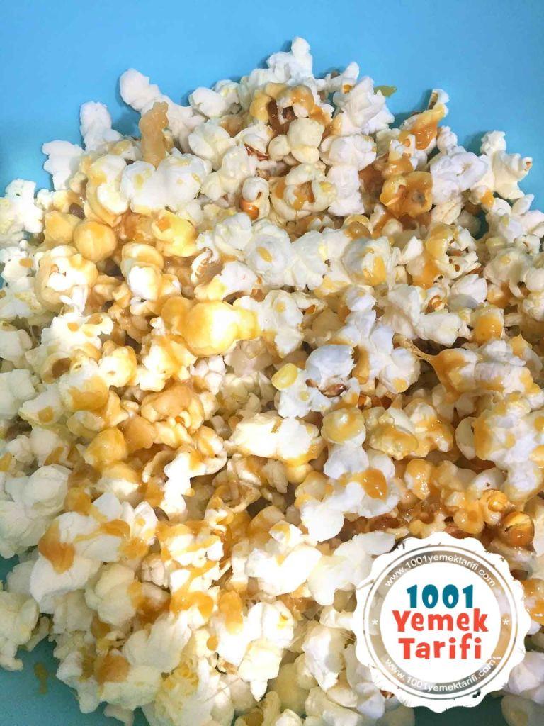 Karamelli Patlamis misir tarifi yapimi nasil yapilir-kac kalori-popcorn-evde ev yapimi