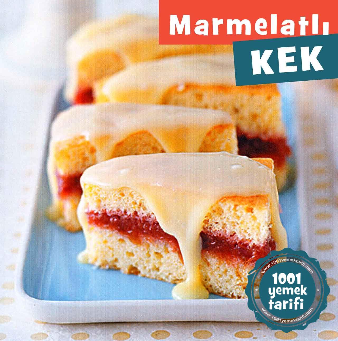 Marmelatli kek dilimleri nasil yapilir-yapimi kizilcik marmelati tariifi-nefis pasta tarifleri-kac kalori