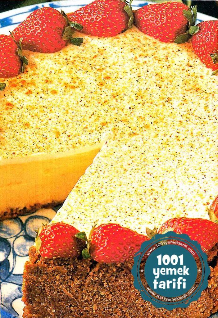 eksi-kremali-cheesecake-tarifi-nasil yapilir-ev yapimi kolay nefis pasta tarifleri-kac kalori-1001yemektarifi