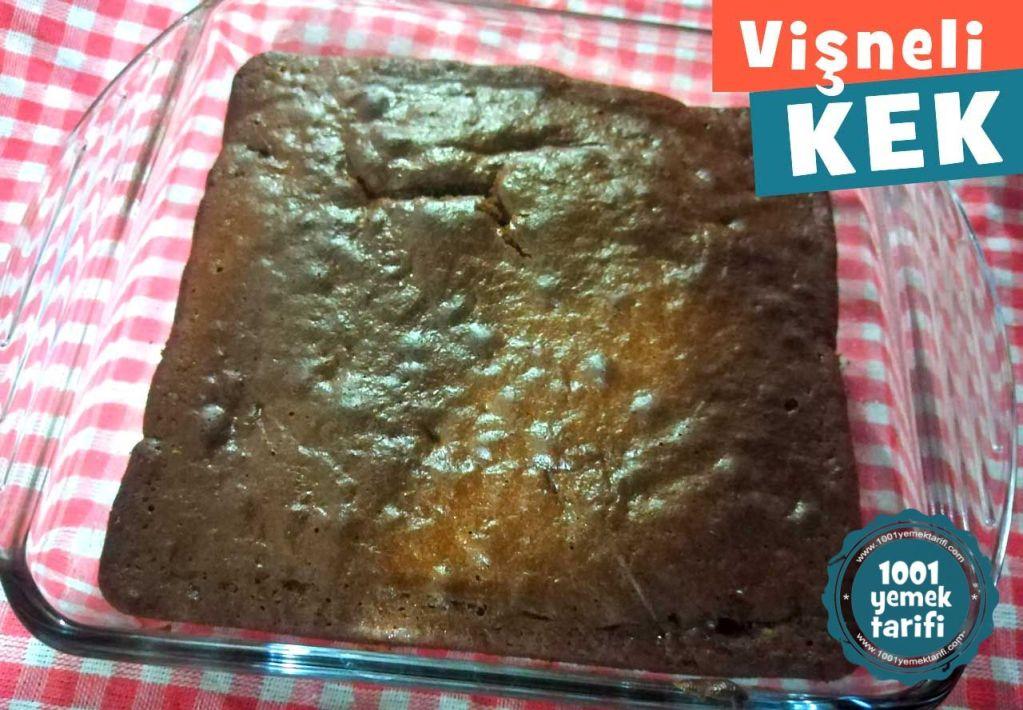 ev yapimi kolay visneli kek tarifi-nefis-puf noktasi-kek kac kalori-1001yemektarifi