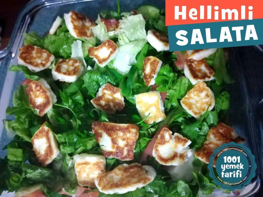 hellim-peynirli-salata-yapimi-nefis-kolay-salata-atistirmalik-pratik-vejetayen-diyet yemegi-1001yemektarifi-kac-kalori