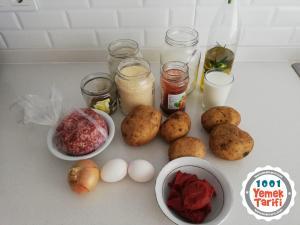 Püreli Çanak Köfte Tarifi-nasıl yapılır-kaç kalori