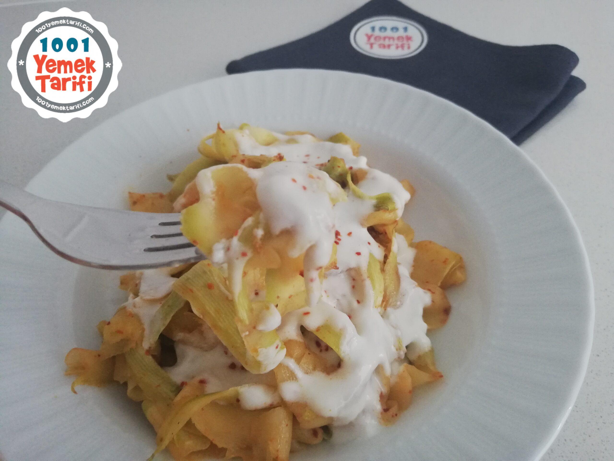 Yoğurtlu Kabak Spagetti Tarifi nasıl yapılır-diyet yemekler-kaç kalori