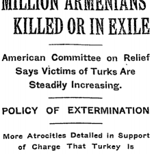 Massacres e deportações armênias foram amplamente divulgados na imprensa internacional entre as décadas de 1890 e 1920.