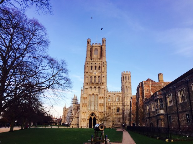 A photo of Ely Cathedral, a prominent feature on Emma's training route