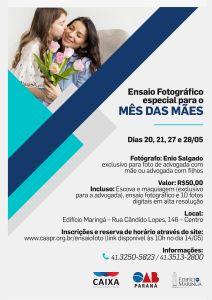 Interessadas devem fazer a inscrição e reserva de horário pelo site www.caapr.org.br/ensaiofoto