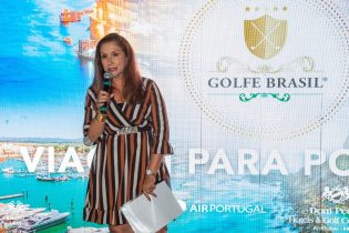 Maria João, gerente comercial da TAP região Sul, também esteve presente entre os patrocinadores