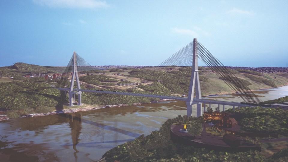 projeto da segunda ponte em 3D