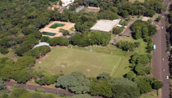 Vista aérea do antigo Floresta Clube em Foz do Iguaçu