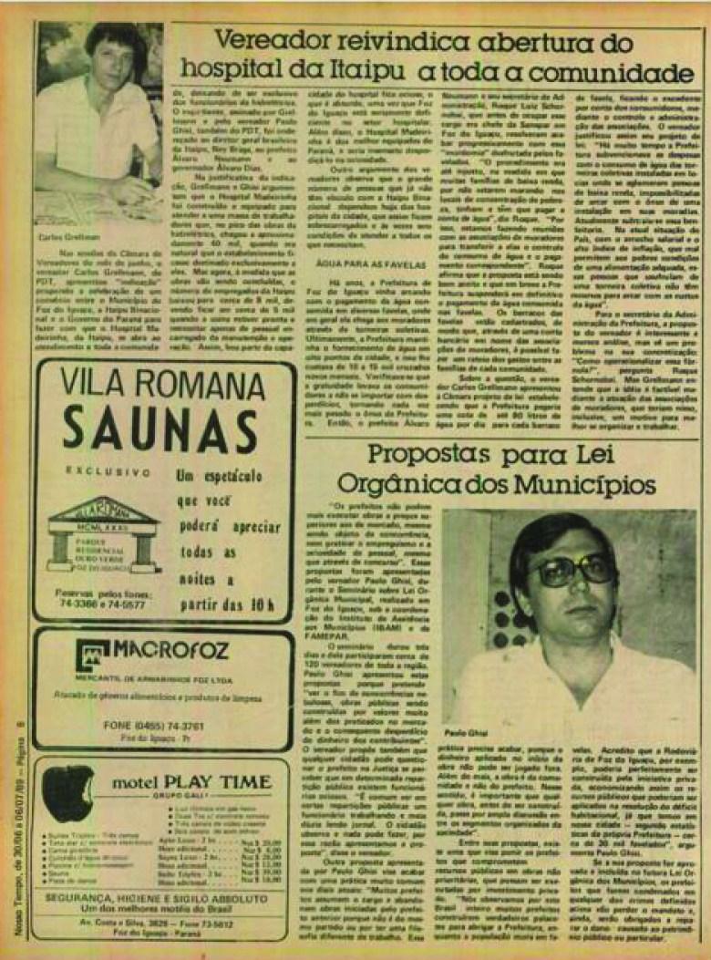 Jornal Nosso Tempo 1989