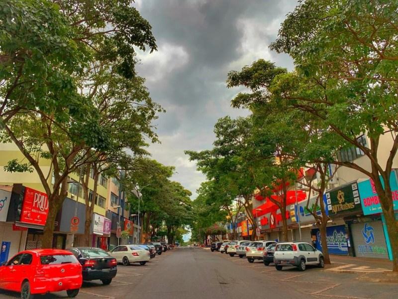 Avenida Brasil em Foz do Iguaçu.