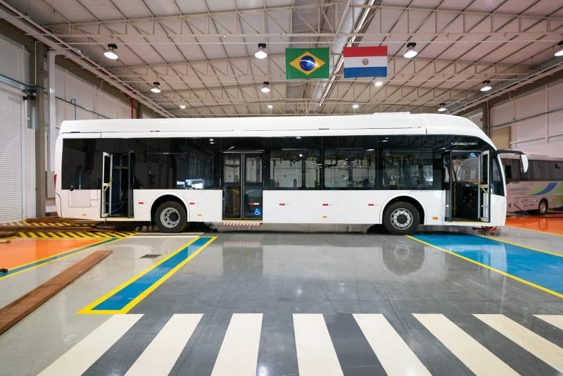 Ônibus híbrido retorna à Itaipu para fase final de testes