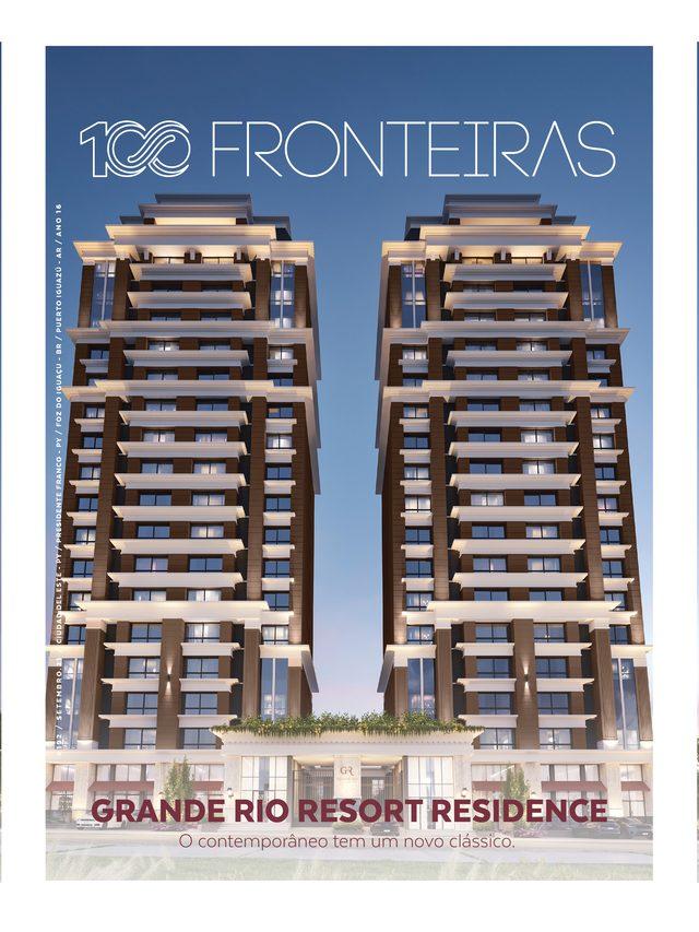 revista 100fronteiras capa de setembro grande rio resort residence