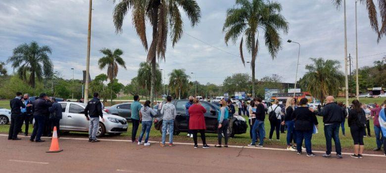 Manifestação em Puerto Iguazú