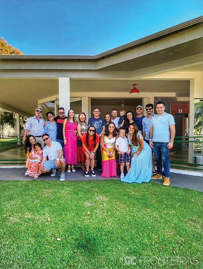 A família comemorando o dia dos Pais no Hotel Nacional In