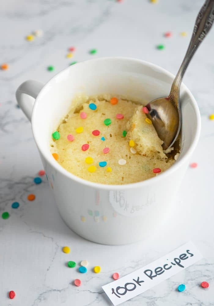 microwave vanilla mug cake recipe