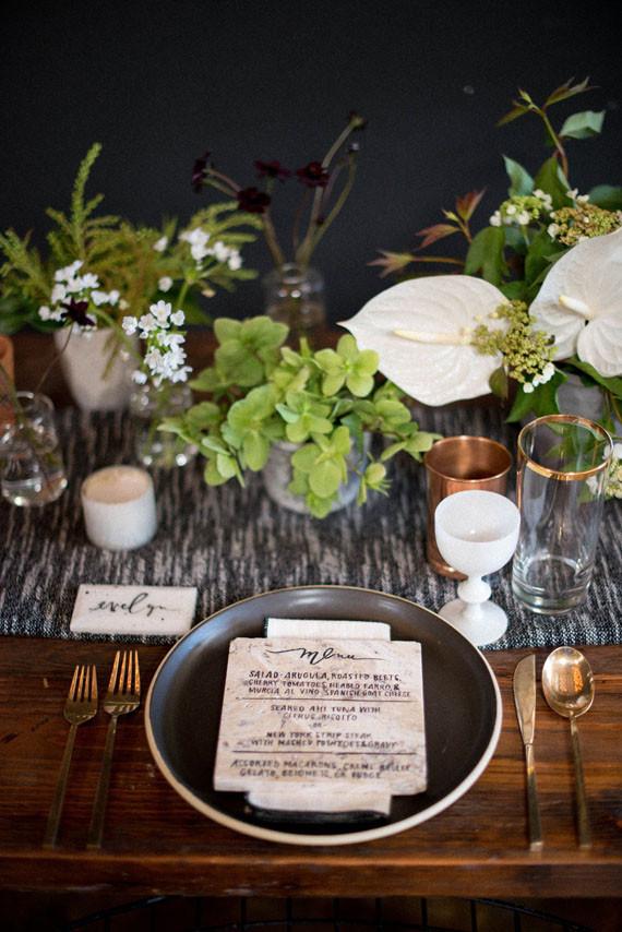 Rustic Modern Wedding Tablescape Wedding Amp Party Ideas