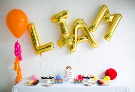 Gold mylar letter balloons   Wedding   Party Ideas   100 Layer Cake Previous Gold mylar letter balloons