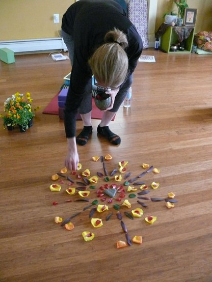 It was so fun to see how the mandala took shape.