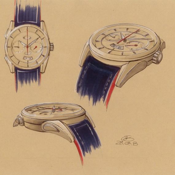PARMIGIANI Bugatti Aérolithe_Zeichnung Uhr