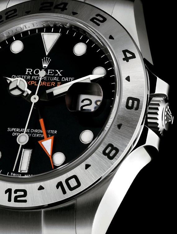 2011-Black-Explorer-II-Orange-Hand