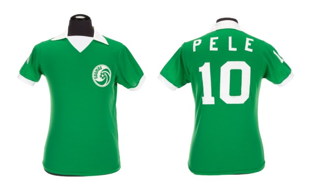 PELÉ 1977 NEW YORK COSMOS GAME WORN FOOTBALL JERSEY