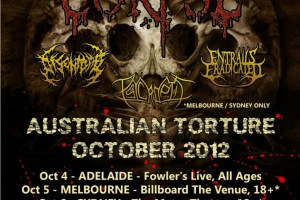 """CANNIBAL CORPSE """"AUSTRALIAN TORTURE"""" OCTOBER 2012 – TOUR BEGINS NEXT WEEK!"""