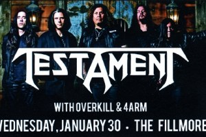 LIVE – Testament, San Francisco, CA, January 30, 2013