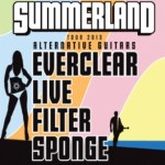 SECOND CONSECUTIVE SUMMERLAND TOUR ANNOUNCED TODAY – EVERCLEAR, LIVE, FILTER AND SPONGE – TO HIT MORE THAN 35 U.S. CITIES THIS SUMMER
