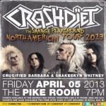 LIVE – CrashDiet: The Savage Playground Tour, April 5 2013