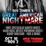 Rob Zombie To Headline Closing Night Of Rob Zombie's Great American Nightmare, With Special Guests Eagles Of Death Metal; Daily Music Lineup Announced For Once In A Lifetime Halloween Event