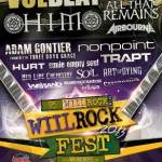 95 WIIL ROCK Presents: WIIL ROCK FEST 2013 – August 24th at the Shadow Hill Ranch in Twin Lakes, WI, feat. Volbeat, HIM, All That Remains and More!