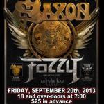 LIVE: Saxon – September 20, 2013 (Flint, MI)