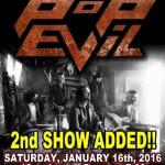 LIVE: POP EVIL – January 16, 2016 (Flint, MI)