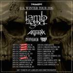LIVE: LAMB OF GOD / ANTHRAX – January 28, 2016 (Royal Oak, MI)