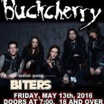 LIVE: BUCKCHERRY wsg Cherry Bombs – May 13, 2016 (Flint, MI)