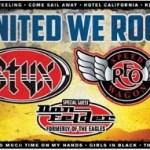 "NEWS: Styx, REO Speedwagon And Don Felder Set To Launch ""United We Rock"" U.S. Summer Tour"