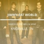 LIVE: JIMMY EAT WORLD – March 6, 2017 (Knoxville, TN)