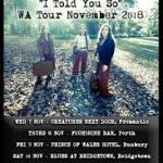 """LITTLE QUIRKS """"I Told You So"""" WA Tour – November 2018"""