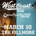 LIVE: WEST COAST HIGH featuring HOLLYWOOD UNDEAD and CYPRESS HILL – March 10, 2019