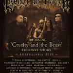CRADLE OF FILTH Performing 'Cruelty and the Beast In Full' Australian and NZ Tour