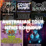AUSTRALIAN TOUR NEWS ROUNDUP – KISS, BRIAN MANNIX'S I CAN'T BELIEVE IT'S NOT COUNTDOWN, SPRING LOADED (featuring Grinspoon, You Am I, Regurgitator, Jebediah, Magic Dirt, Frenzal Rhomb, Custard, The Fauves, The Meanies, Tumbleweed, Screamfeeder, Caligula), BLACKEN OPEN AIR, and COSENTINO – THE GRAND ILLUSIONIST