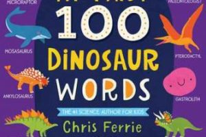 BOOK REVIEW: My First 100 Dinosaur Words by Chris Ferrie, pictures by Lindsay Dale-Scott
