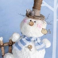 Снеговик из гипса