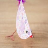 Птичка из бумаги своими руками