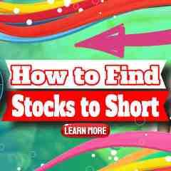 """Image text: """"How to find stocks to short""""."""