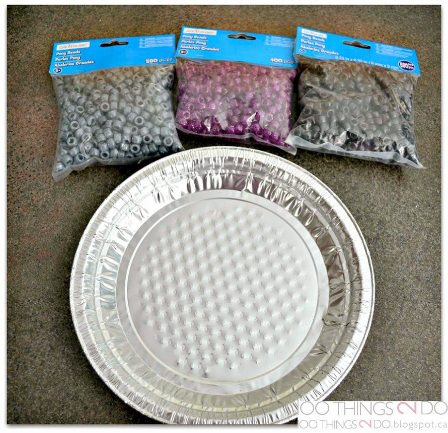 Use plastic beads (pony beads) to create dishes, platters and sun catchers