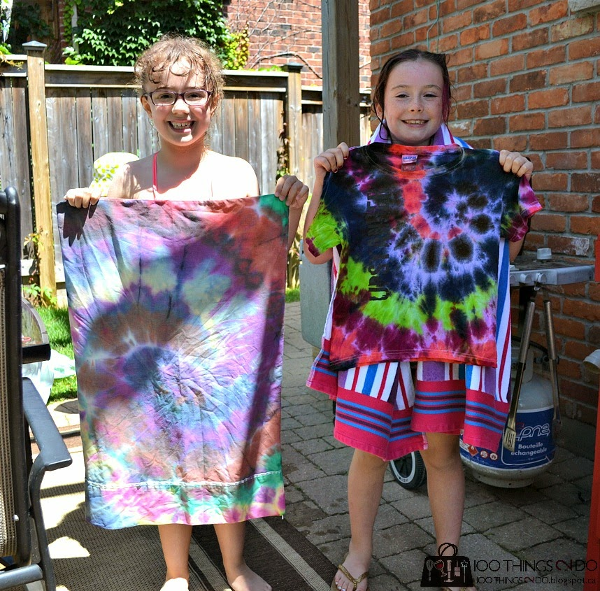 Backyard fun - create tie-dye t-shirts!